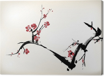 Cuadro en Lienzo Pintura de la flor