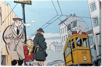 Cuadro en Lienzo Pintura mural en Bruselas