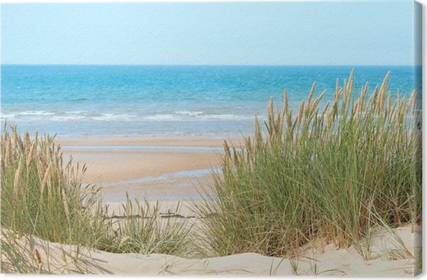 Cuadro en Lienzo Playa de arena en Formby, Reino Unido • Pixers ...