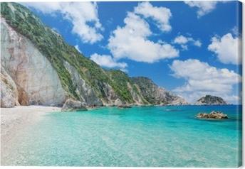 Cuadro en Lienzo Playa de petani, kefalonia, grecia