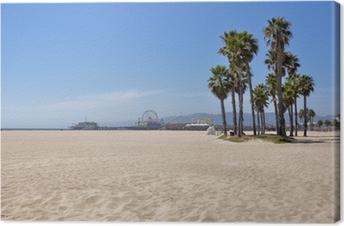 Cuadro en Lienzo Playa de Santa Mónica, California, EE.UU.