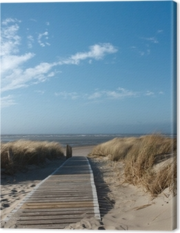 Cuadro en Lienzo Playa del Mar del Norte en Langeoog