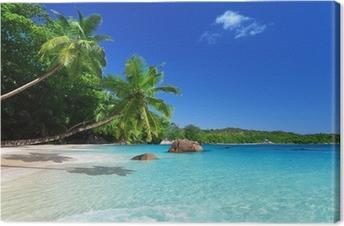 Cuadro en Lienzo Playa en la isla de Praslin, Seychelles