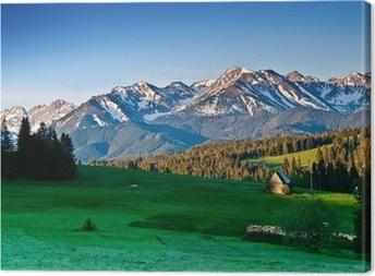 Cuadro en Lienzo Polish Tatra montañas panoram de la mañana