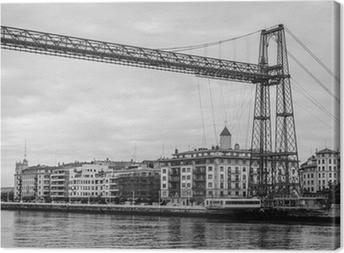 Cuadro en Lienzo Portugalete Puente pendiente