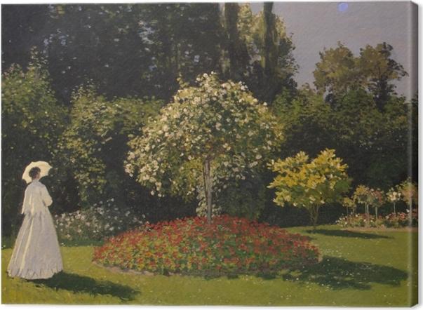 Cuadros en lienzo premium Claude Monet - Mujer en un jardín - Reproducciones