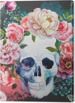 Cuadros en lienzo premium Cráneo de la acuarela