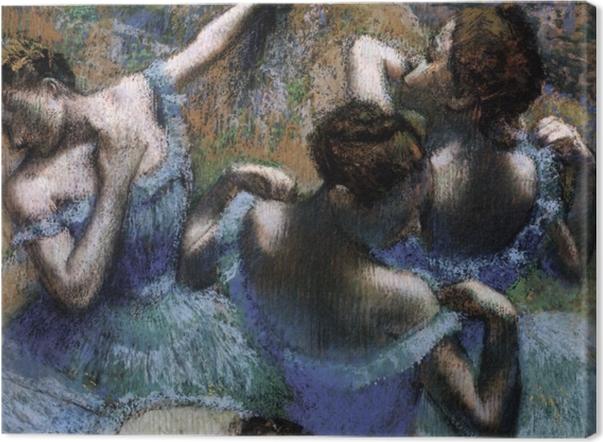 Cuadros en lienzo premium Edgar Degas - Los bailarines azules - Reproducciones