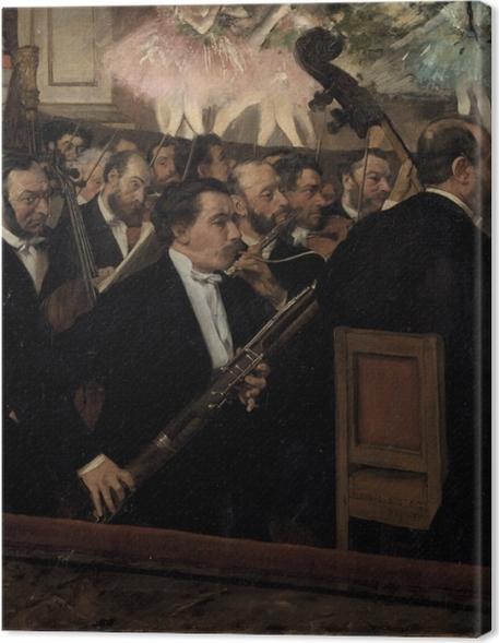 Cuadros en lienzo premium Edgar Degas - Orquesta de la Opera de París - Reproducciones