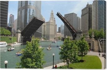 Cuadros en lienzo premium El centro de Chicago, Illinois
