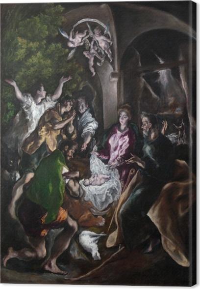 Cuadros en lienzo premium El Greco - Adoración de los Shephards - Reproducciones