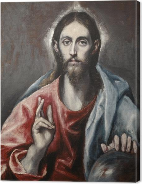 Cuadros en lienzo premium El Greco - Bendición de Cristo - Reproducciones