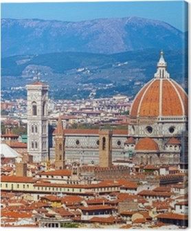 Cuadros en lienzo premium Florencia paisaje urbano