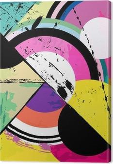 Cuadros en lienzo premium Fondo círculo abstracto, con trazos de pintura