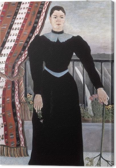 Cuadros en lienzo premium Henri Rousseau - Retrato de una mujer - Reproducciones