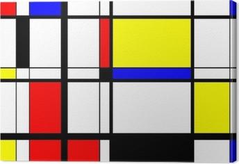 Cuadros en lienzo premium Mondrian Arte digital