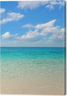 Cuadros en lienzo premium Nubes sobre la costa de Cala Mariolu