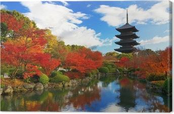 Cuadros en lienzo premium Pagoda de Toji en Kyoto, Japón