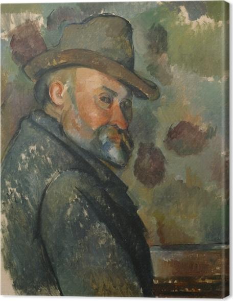 Cuadros en lienzo premium Paul Cézanne - Auto retrato - Reproducciones