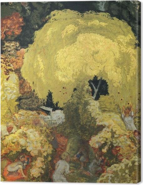 Cuadros en lienzo premium Pierre Bonnard - Los recolectores de fruta - Reproductions