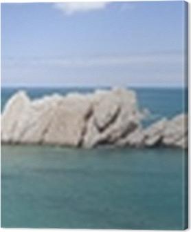 Cuadros en lienzo premium Playa de La Arnía (Santander)
