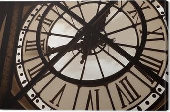 Cuadros en lienzo premium Reloj en el museo de Orsay. París, Francia