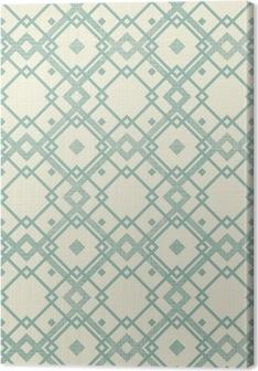 Cuadros en lienzo premium Retro sin patrón geométrico en azul y gris