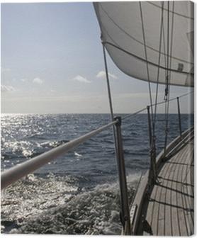 Cuadros en lienzo premium Velero en el mar