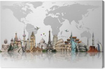 Cuadros en lienzo premium Viaja por el mundo concepto monumentos