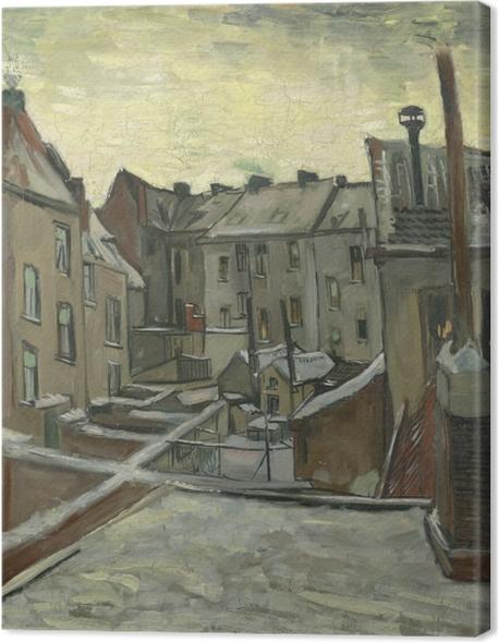 Cuadros en lienzo premium Vincent van Gogh - Patios traseros de casas viejas en Amberes - Reproductions