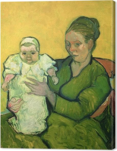 Cuadros en lienzo premium Vincent van Gogh - Señora Roulin con su hijo Marcelle - Reproductions