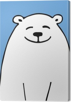 Cuadros en lienzo premium White Bear, boceto de su diseño