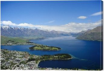 Cuadro en Lienzo Queenstown y el lago Wakatipu