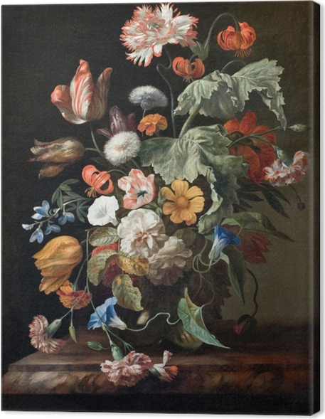 Cuadro en Lienzo Rachel Ruysch - Still-Life with Flowers - Reproducciones