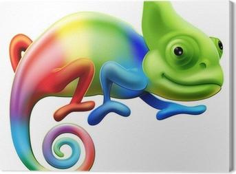 Cuadro en Lienzo Rainbow camaleón