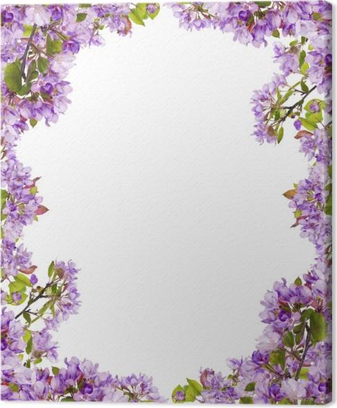 Cuadro en Lienzo Ramas de flores lila árbol marco • Pixers ...
