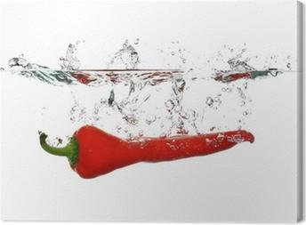 Cuadro en Lienzo Red-Pimienta-Splash