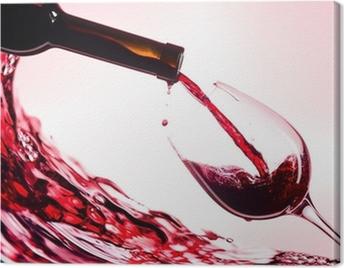 Cuadro en Lienzo Red wine