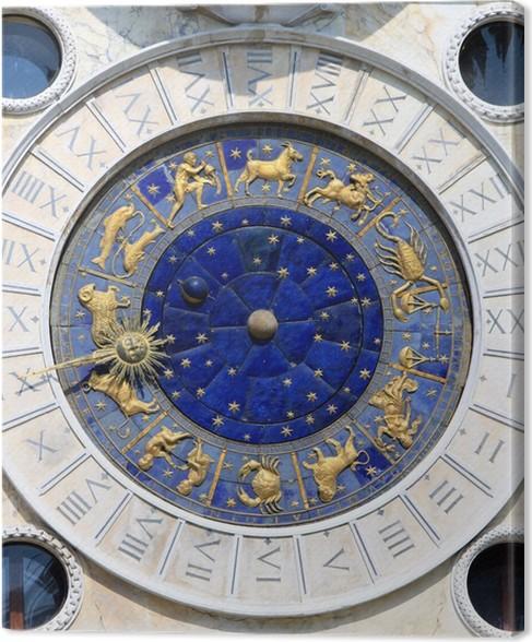 Cuadro en Lienzo Reloj de Sol, la Plaza de San Marcos en Venecia ...