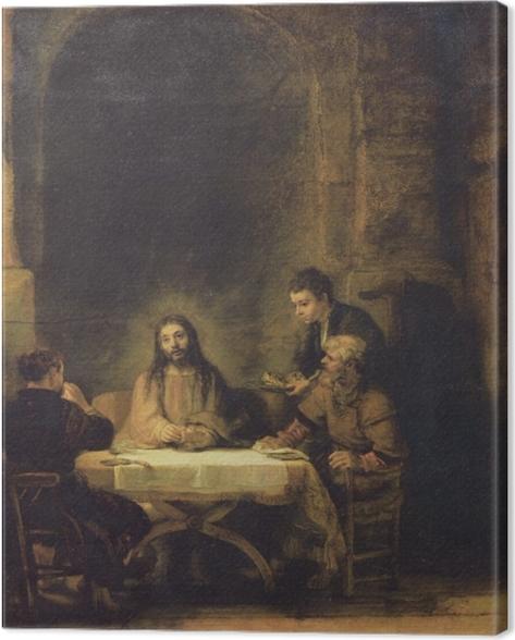 Cuadro en Lienzo Rembrandt - La cena de Emaús - Reproducciones