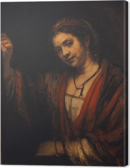 Cuadro en Lienzo Rembrandt - Retrato de Hendrickje Stoffels - Reproducciones