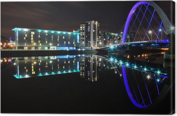 Cuadro en Lienzo Río Clyde, Glasgow • Pixers® - Vivimos para cambiar