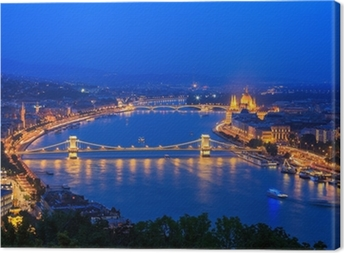 Cuadro en Lienzo Río Danubio. Budapest. Hungría
