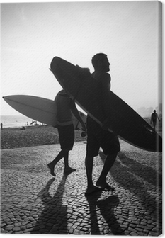 Cuadro en Lienzo Río Tabla de Surf Sunset surfistas Arpoador Brasil