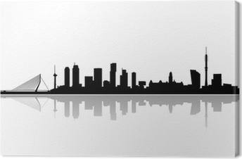 Cuadro en Lienzo Rotterdam city skyline vector