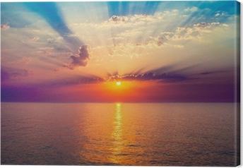Cuadro en Lienzo Salida del sol en el mar