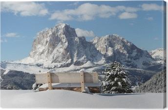 Cuadro en Lienzo Sassolungo montaña en los Dolomitas