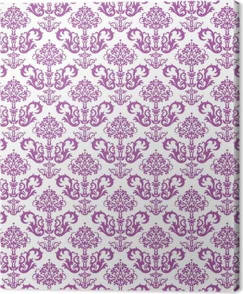 Cuadro en Lienzo Seamless papel tapiz floral rosa sobre ...