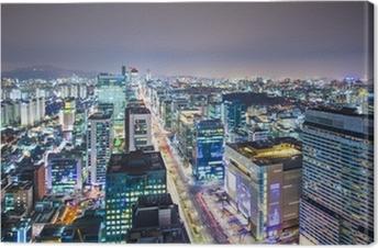 Cuadro en Lienzo Seúl, Corea del Sur Skyline