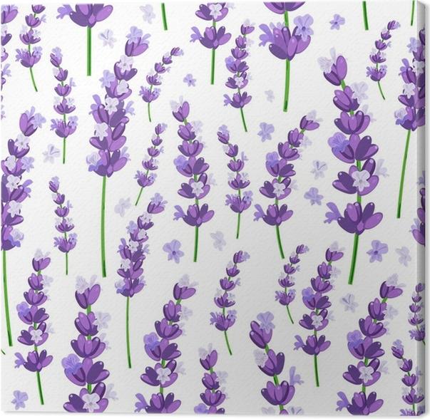 Cuadro en Lienzo Sin patrón de provence violeta lavanda flores sobre ...